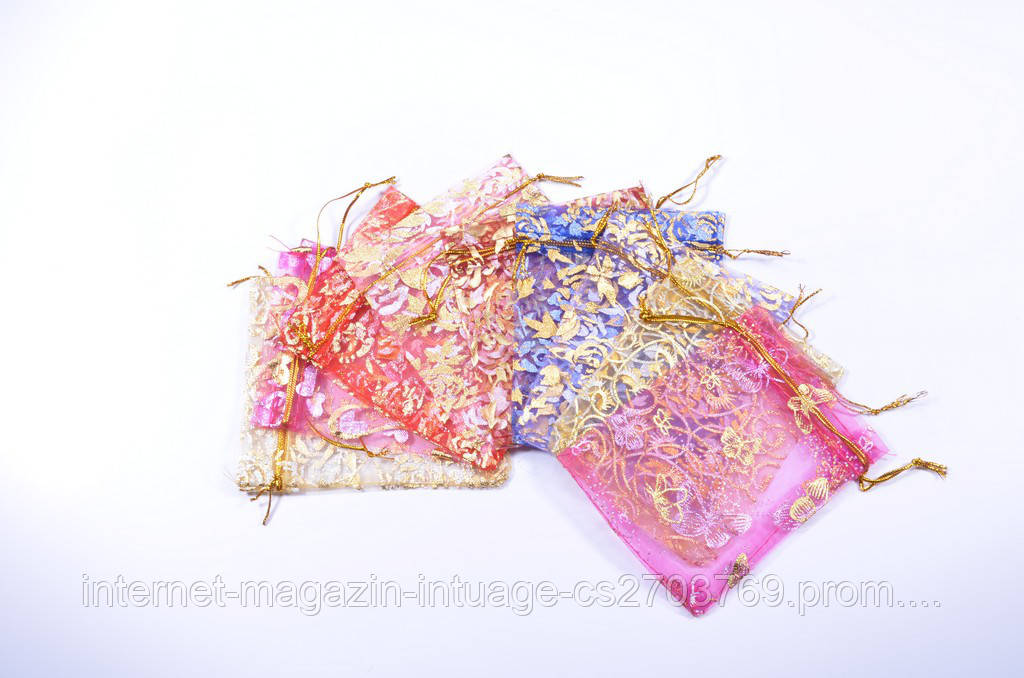 Подарочный мешочек из органзы размер 9*12 см