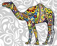 Рисование по номерам Цветочный верблюд (BK-GX21209) 40 х 50 см [Без коробки]
