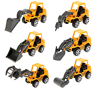 Машинки Набор строительной техники 6 штук. Цена за все 6 шт. Игрушки, фото 1