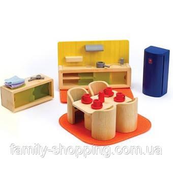 """Деревянная игрушка набор мебели из бамбука """"Cosy Kitchen Dinner"""""""