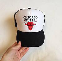 Кепка  с логотипом Chicago Bulls|кепка чикаго БУЛЛЗ|бейсболка спортивная