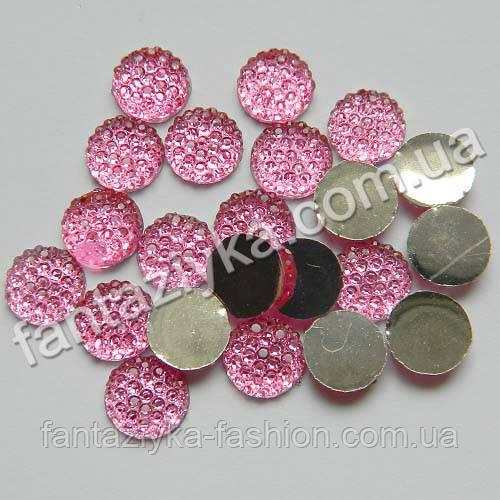 Камень круглый с пупырышками 8мм, розовый