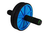 Ролик для пресу Hop-Sport (синій) / Ролик для пресса Hop-Sport Blue