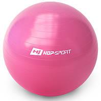 Фітбол Hop-Sport 65см (рожевий) / Фитбол Hop-Sport 65cm Pink + насос, фото 1