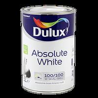 """Водоэмульсионная краска """"Dulux Absolute White"""" 1л."""