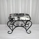 Пуфик 03 малый, черный/серебро, фото 3