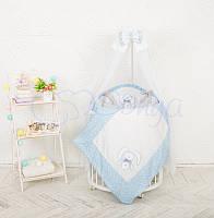 Комплект Luky Star , гоубой (овальная кроватка), фото 1