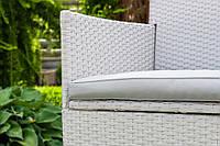 Садовая мебель Ротанг TRAPANI 9 белая/ меблі садові білі, фото 1