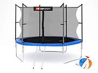 Батут Hop-Sport 10ft (305cm) blue с внутренней сеткой / батут з внутрішньою сіткою  3 опори, фото 1