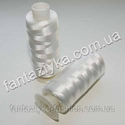 Бисерная шелковая нить белая