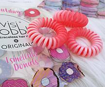 Резинка для волос с ароматом Пончиков Invisibobble Original Donut Cream
