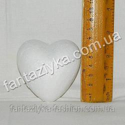 Пенопластовое сердце 6,5см, заготовка