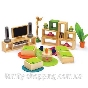 """Деревянная игрушка набор мебели из бамбука """"Lifestyle Living Room"""""""