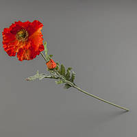 Искусственный оранжевый цветок мак.