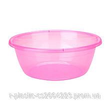 Миска R-Plastic прозора 7л рожева
