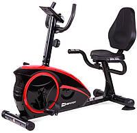 Горизонтальный велотренажер Hop-Sport HS-67R Axum black/red , фото 1