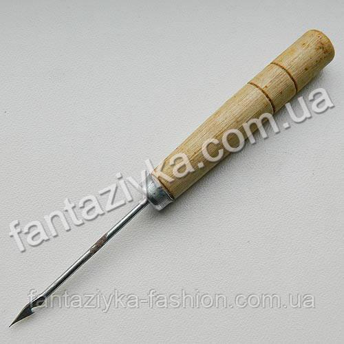 Шило с крючком и деревянной ручкой, БРАК