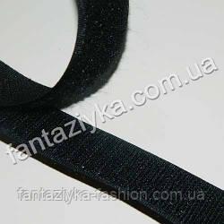 Липучка черная 25мм, липкая лента для рукоделия