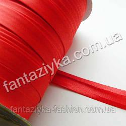 Атласная косая бейка, цвет красный