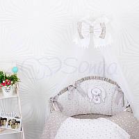 Комплект Luky Star , серый (овальная кроватка), фото 1