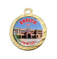 """Медаль для выпускников 32 мм """"золото"""""""