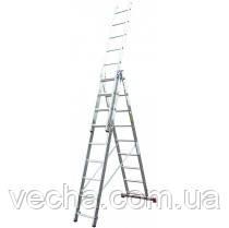 Bagliore лестница алюминиевая 3х10 ступеней