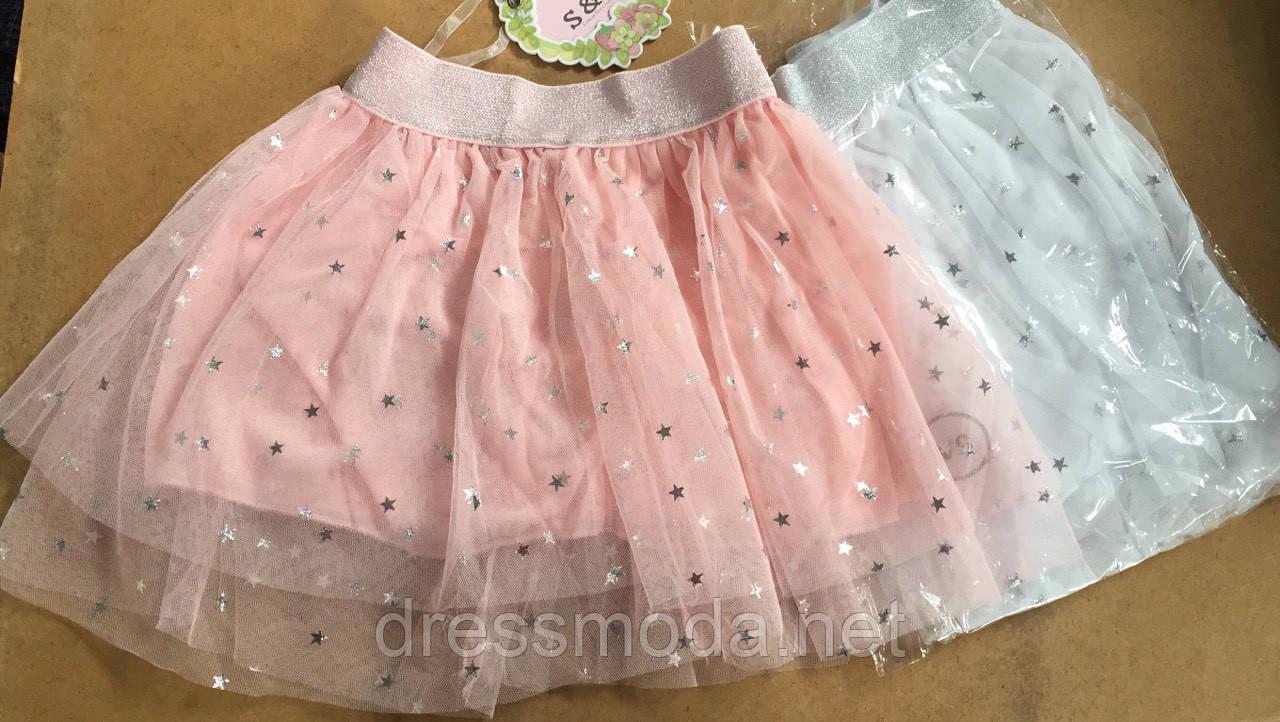 Юбки нарядные для девочек S&D 1-5 лет