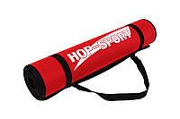 Мат для фітнесу Hop-Sport (червоний) / Мат для фитнеса Hop-Sport HS-2256 Red, фото 1