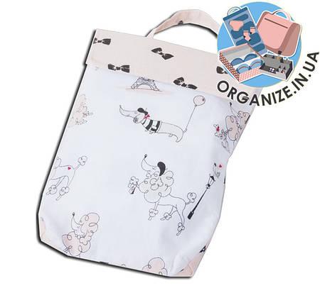 Кармашек для памперсов и влажных салфеток в детскую сумку(собачки)