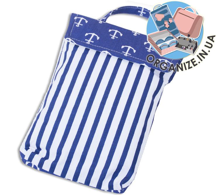 Кишенька для памперсів і вологих серветок в дитячу сумку(якоря)