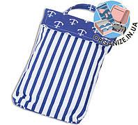 Кармашек для памперсов и влажных салфеток в детскую сумку(якоря)