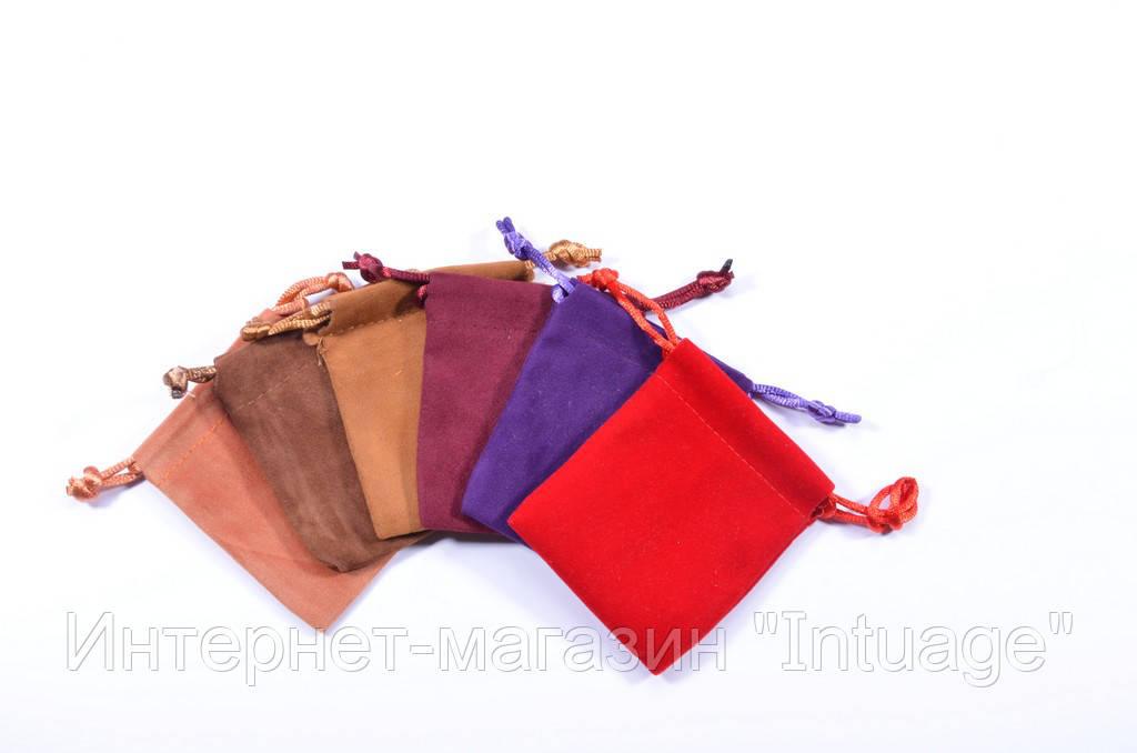 Подарочный мешочек из велюра размер 6*8 см
