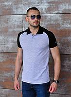 "Мужская футболка-поло ""Grey"" размер Л"