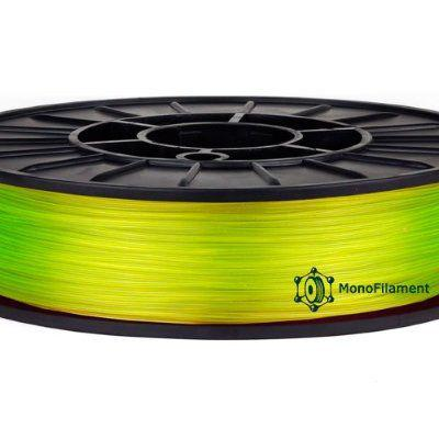 """CoPET Пластик """"MonoFilament"""" 1,75mm 0.75кг, Желтый полупрозрачный"""