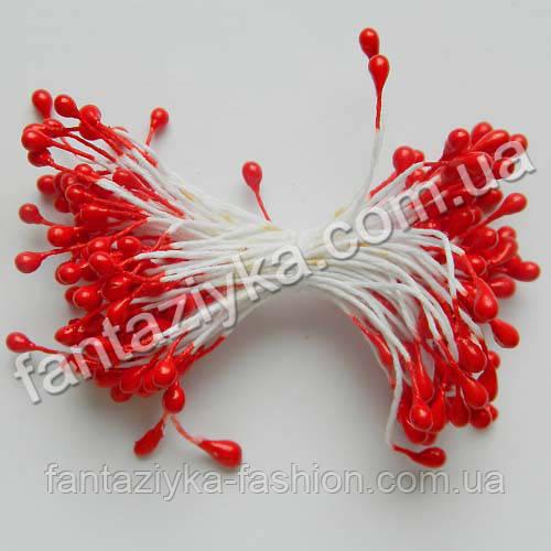Тычинки лаковые красные, 50 штук
