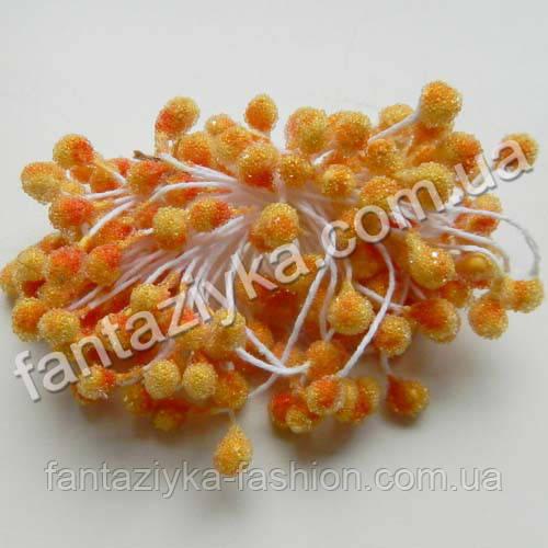 Сахарные тычинки для цветов оранжевые, 40 штук