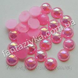 Полубусина перламутровая 8мм розовая