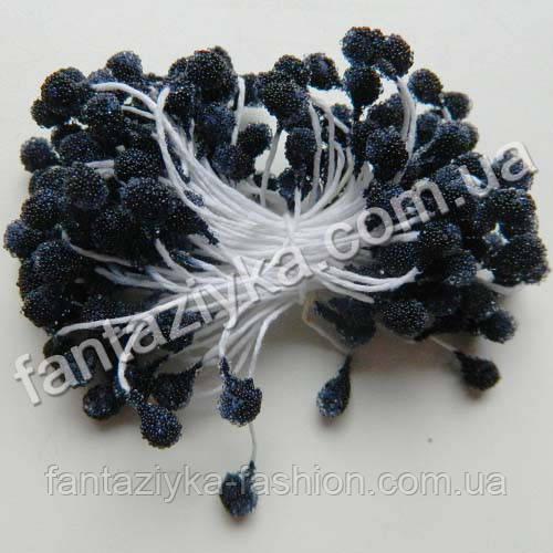 Сахарные тычинки для цветов черные, 40 штук
