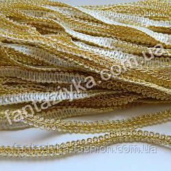 Декоративная тесьма Шанель 7мм золотая