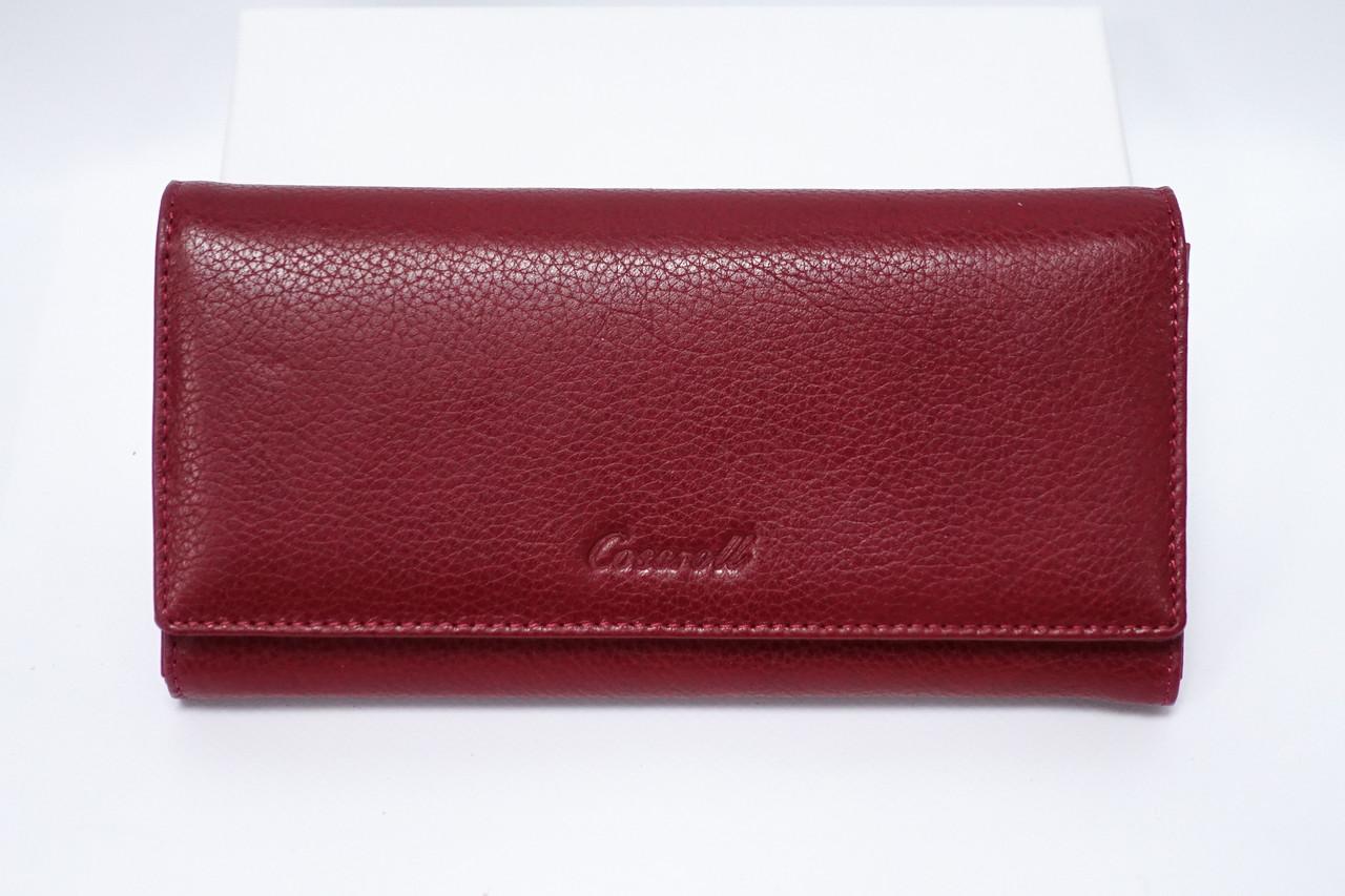 Кожаный кошелек Cossroll облегченный 02-9203