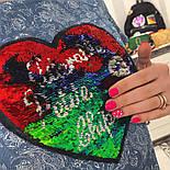 Женское стильное джинсовое платье-трапеция с рюшами и отделка из пайетки (2 цвета), фото 7
