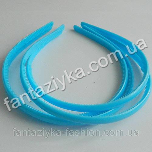 Пластиковый обруч для волос 8мм, голубой