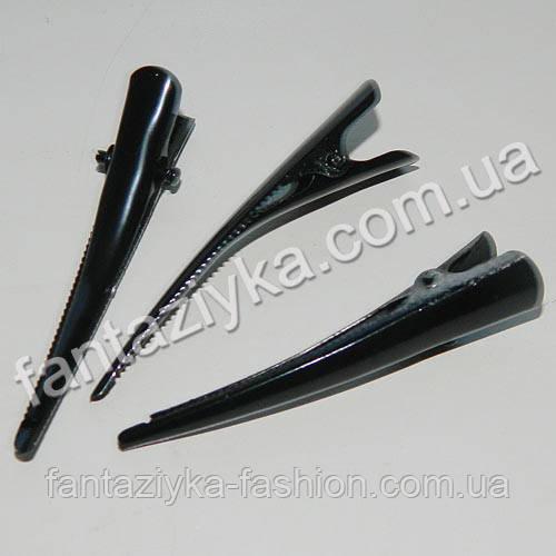 Заколка для волос Стрела 55мм черная