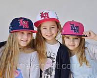 Бейсболка для девочки с прямым козырьком, фото 1