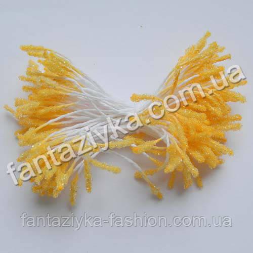 Сахарные тычинки-палочка апельсиновые, 40 штук
