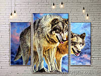 Модульная Картина Волки
