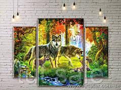 Модульные картины с животными, Art. ANIM777013