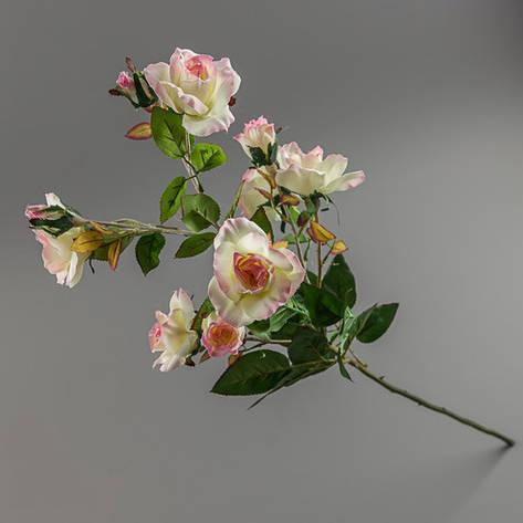 Искусственный букет бело-розовой камелии., фото 2