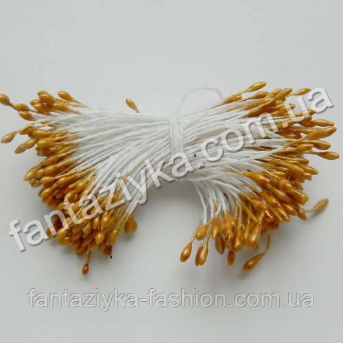 Цветочные тычинки мелкие светло-коричневые, 50 штук