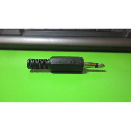 Штекер аудио наушников моно разборной под пайку 3.5мм Jack